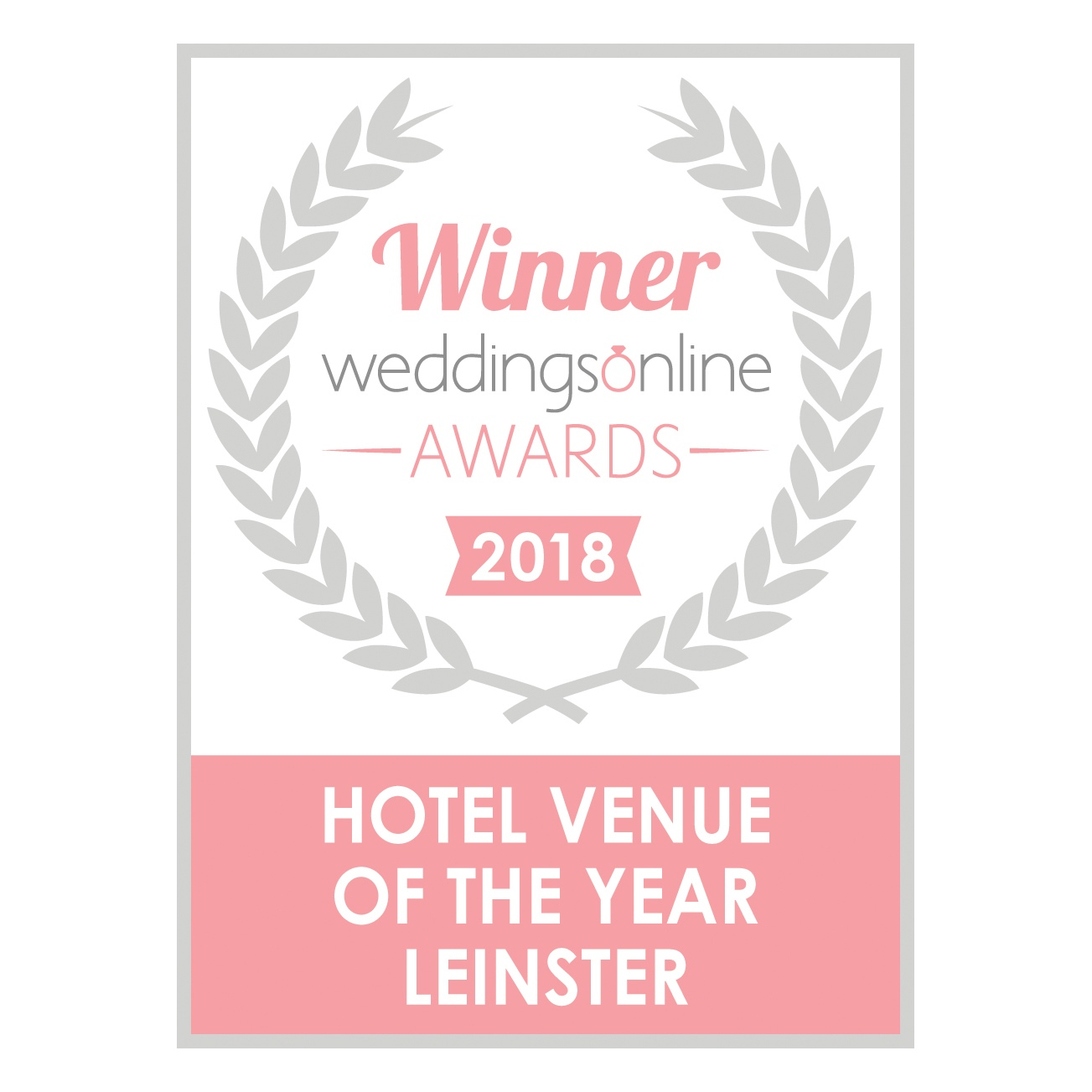 hotel venue of the year leinster 2018 badge jpg
